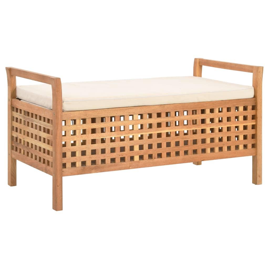 vidaXL Úložná lavica 93x49x49 cm masívne orechové drevo