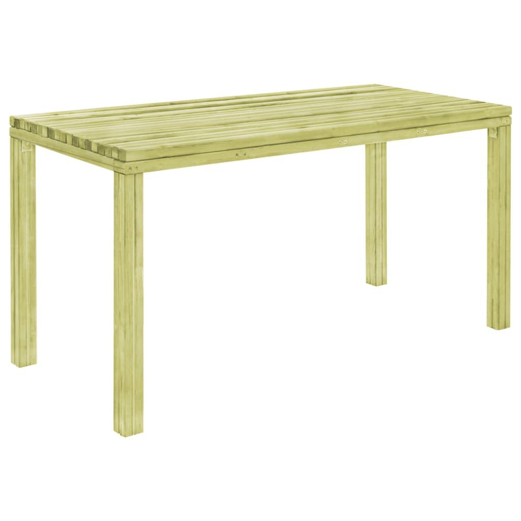 vidaXL Záhradný jedálenský stôl z borovicového dreva FSC 150x75,5x77cm