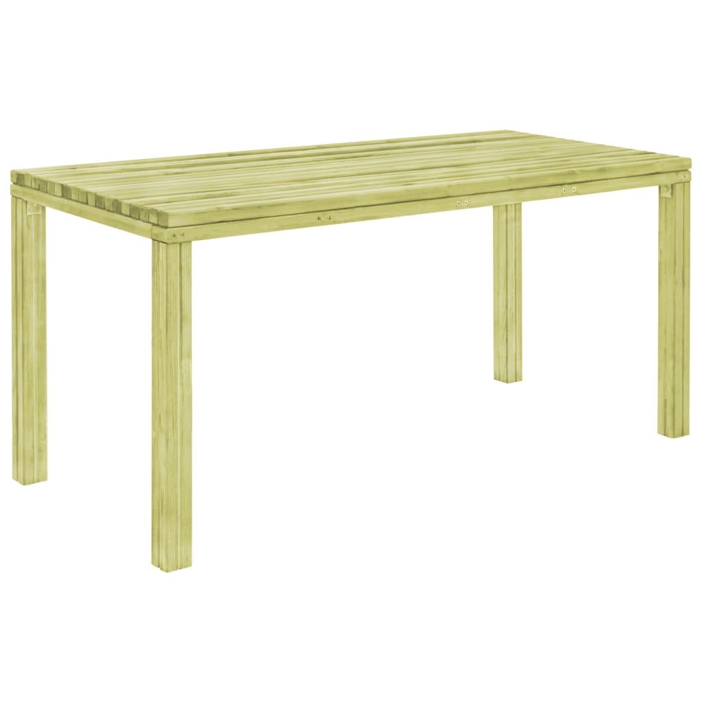 vidaXL Záhradný jedálenský stôl z borovicového dreva FSC 170x75,5x77cm