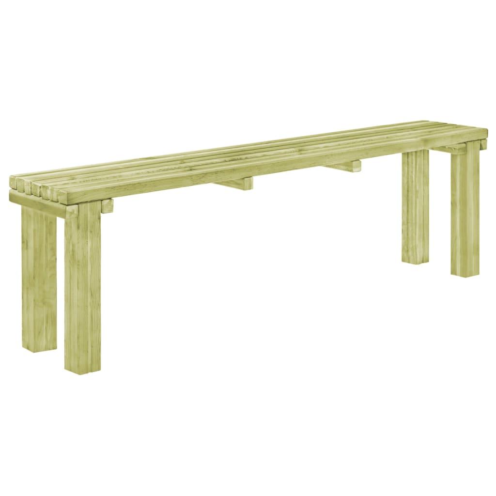 vidaXL Záhradná jedálenská lavica 150x27,5x45 cm impregnovaná borovica