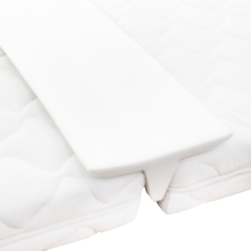 vidaXL Vrchný matrac biely 25x200 cm