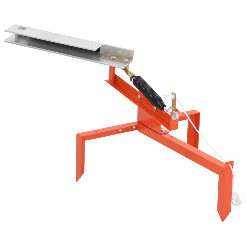 vidaXL Vrhací prístroj na hlinené terče oceľový