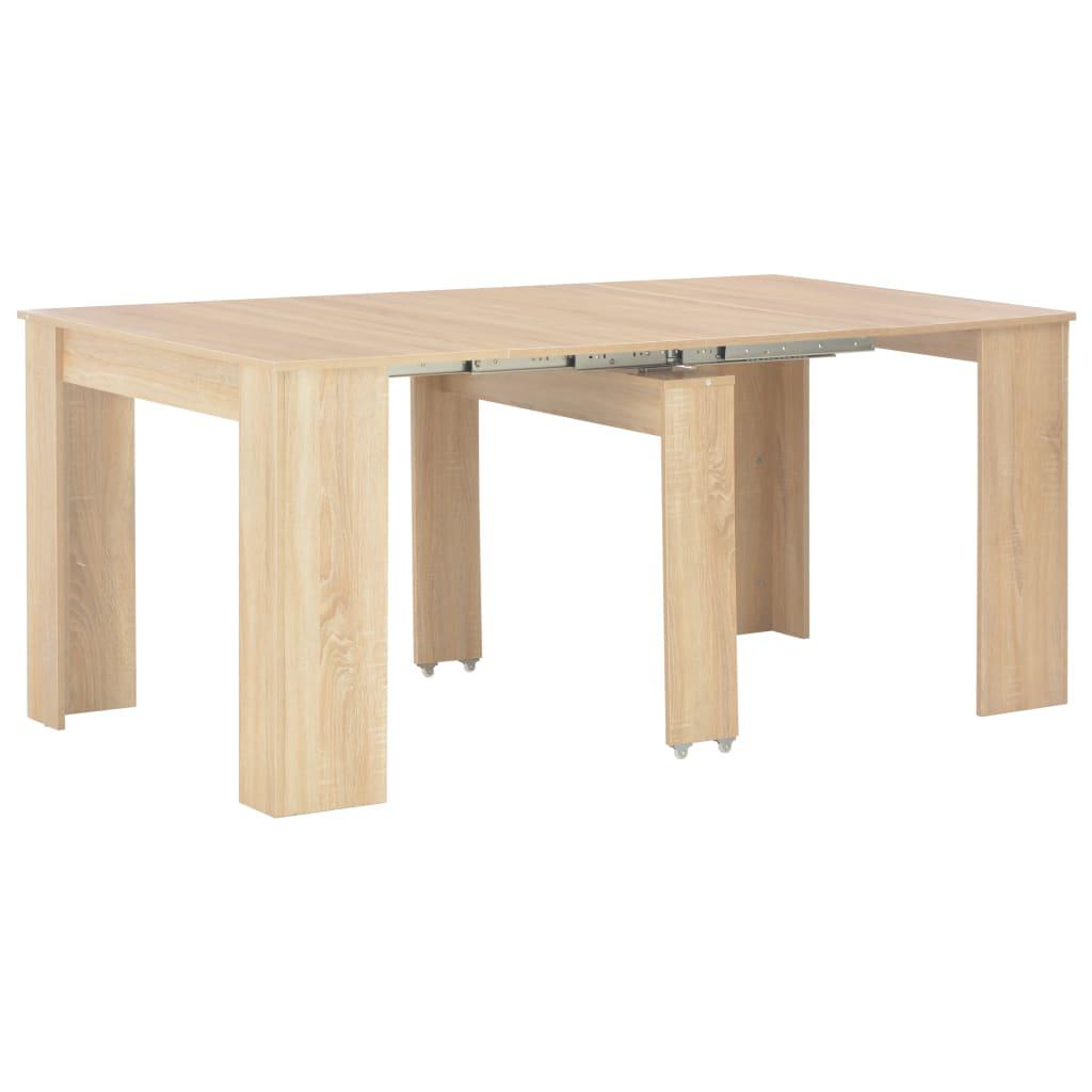 vidaXL Rozťahovací jedálenský stôl farba dubu sonoma 170x90x75 cm