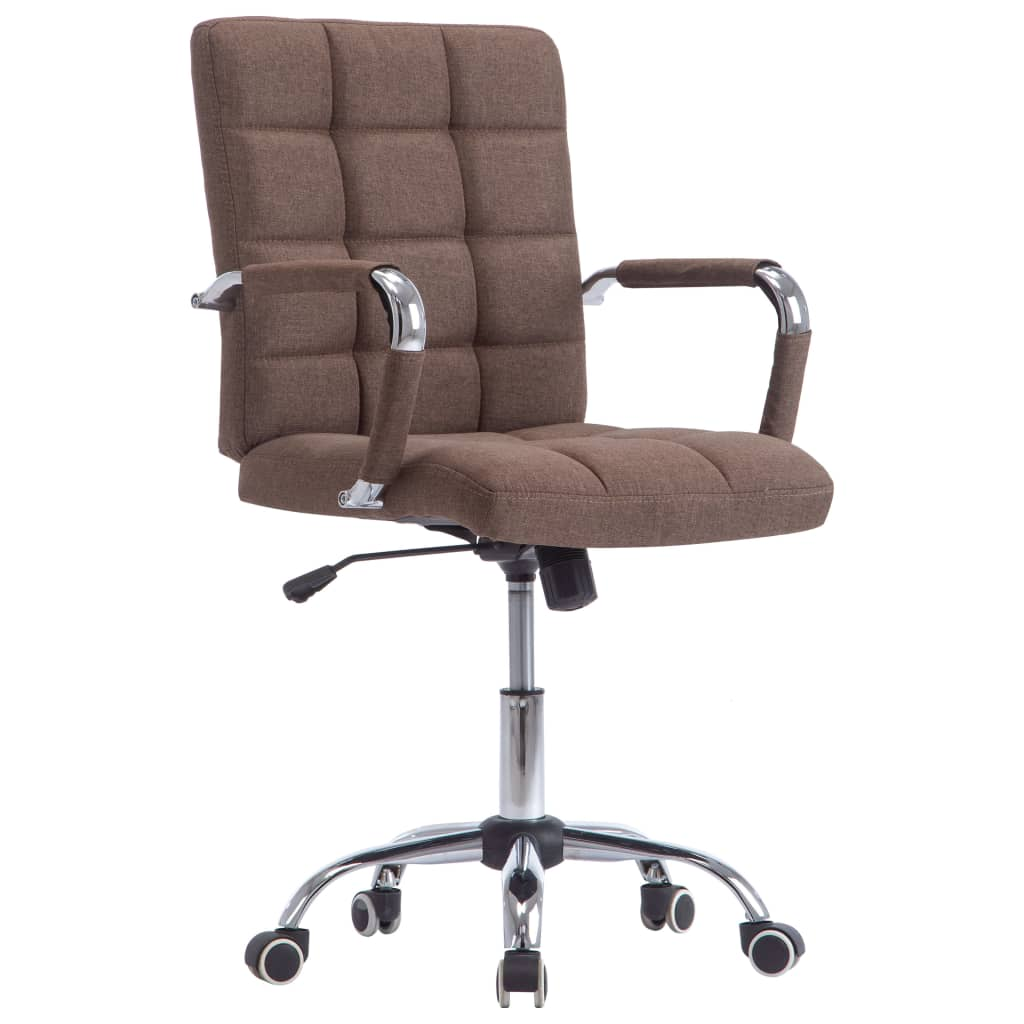 vidaXL Kancelárska stolička hnedá látková