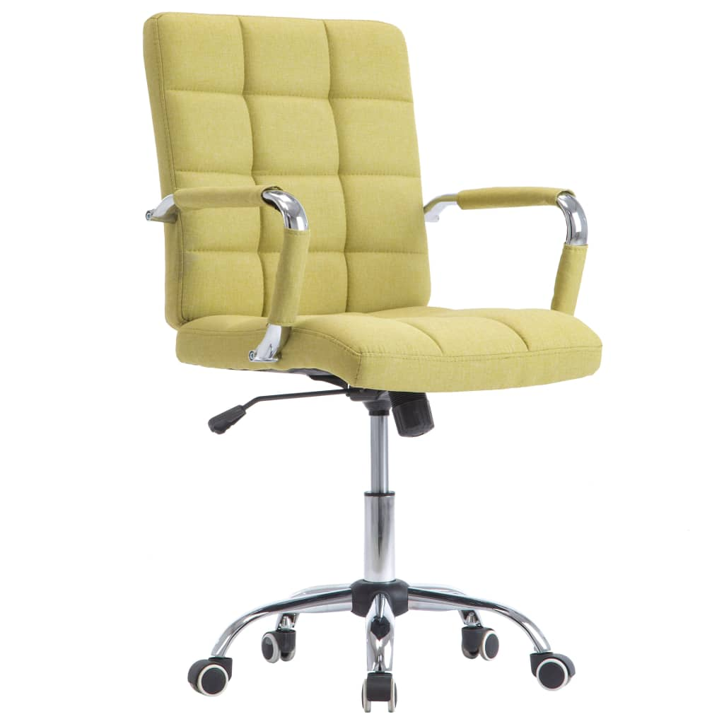 vidaXL Kancelárska stolička zelená látková