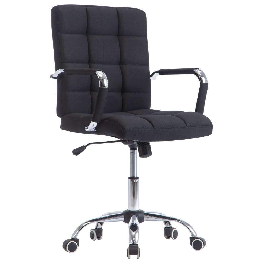 vidaXL Kancelárska stolička čierna látková