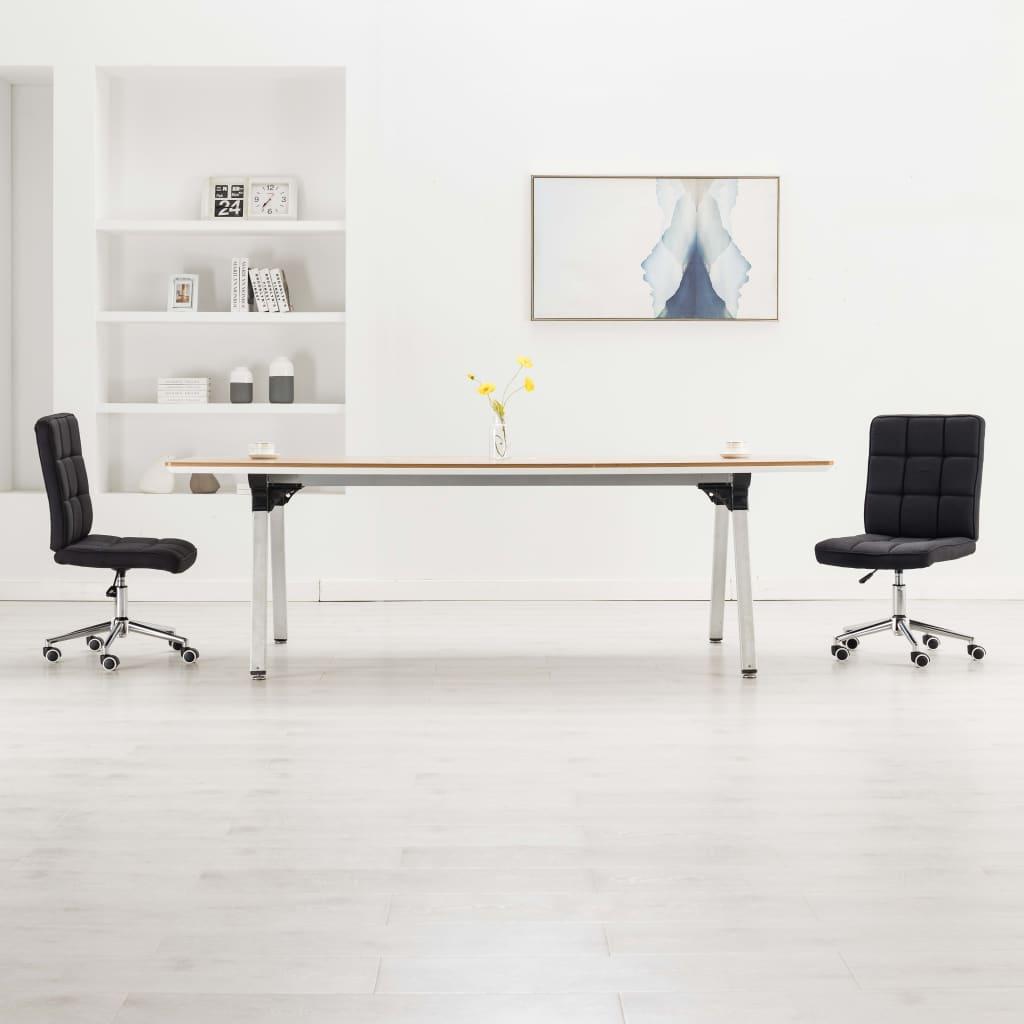 vidaXL Jedálenské stoličky 2 ks, čierne, látka