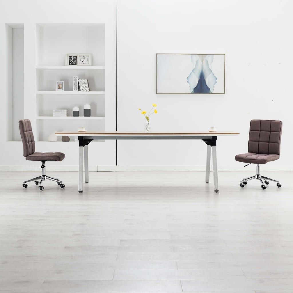 vidaXL Jedálenské stoličky 2 ks, sivohnedé, látka