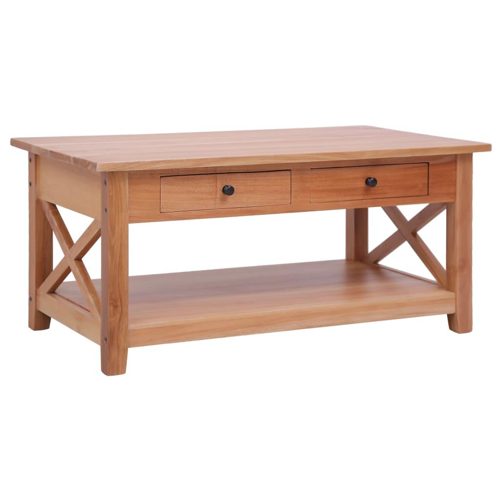 vidaXL Konferenčný stolík 100x55x46 cm masívne mahagónové drevo