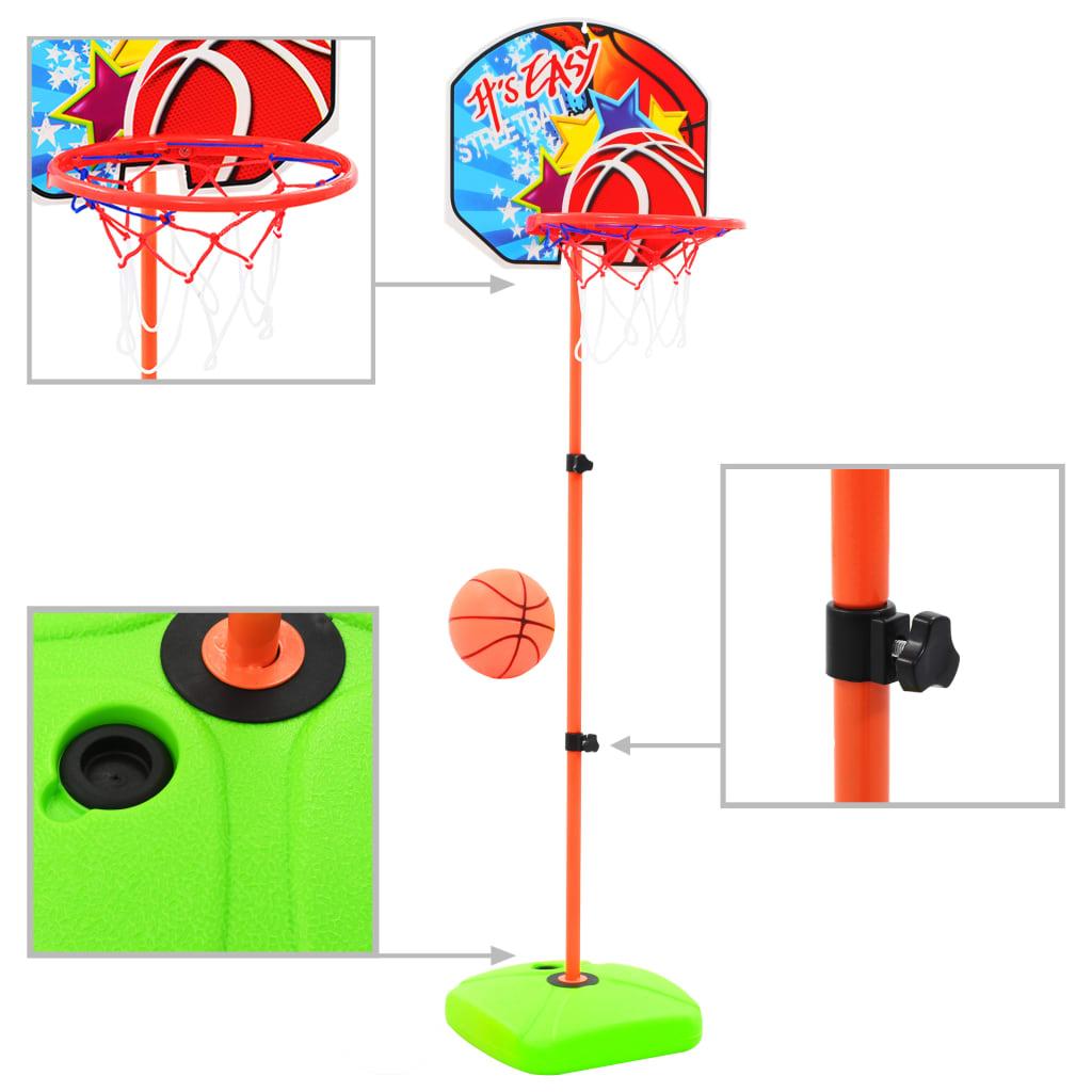 vidaXL Detský basketbalový kôš s loptou