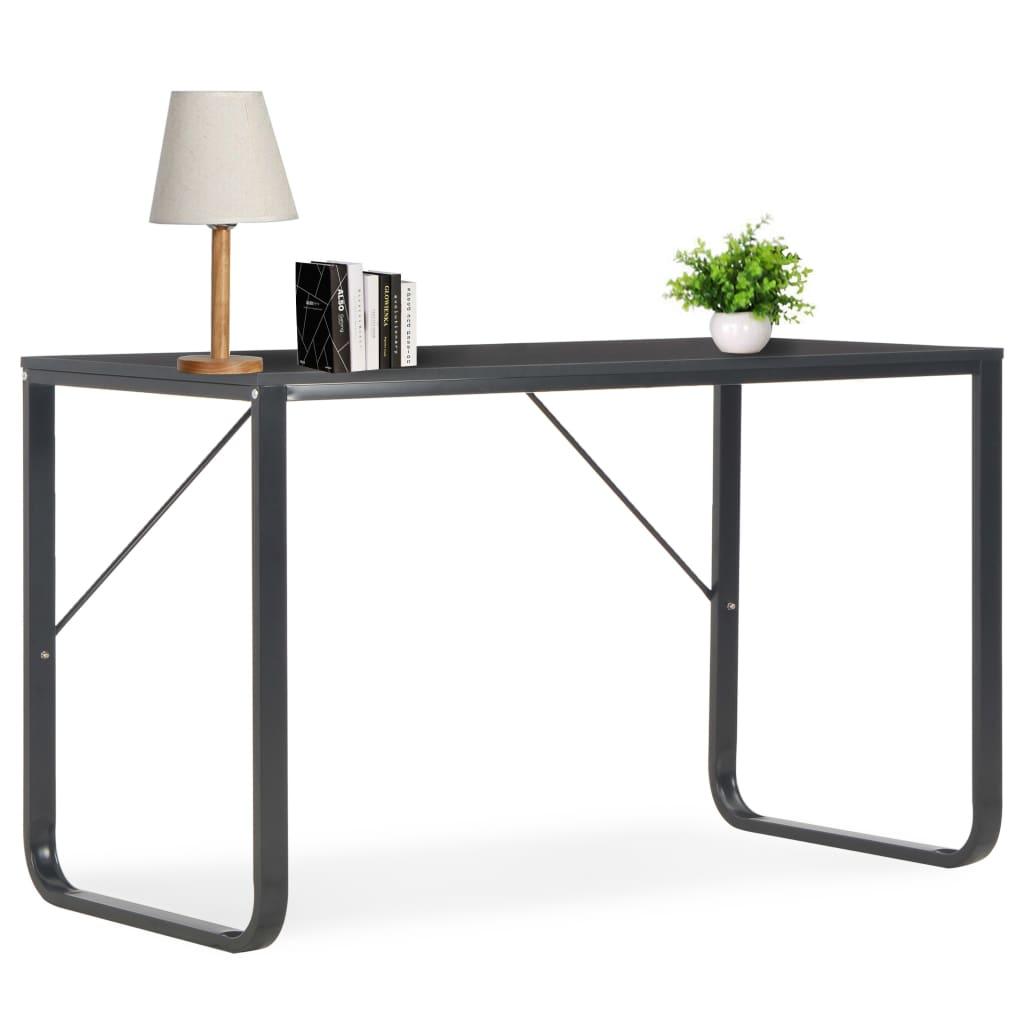 vidaXL Počítačový stôl, čierny 120x60x73 cm