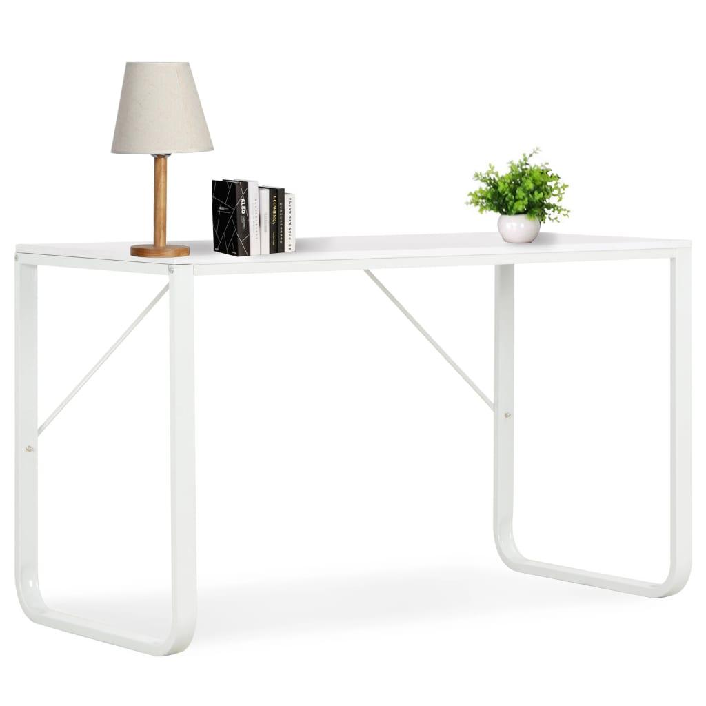 vidaXL Počítačový stôl, biely 120x60x73 cm
