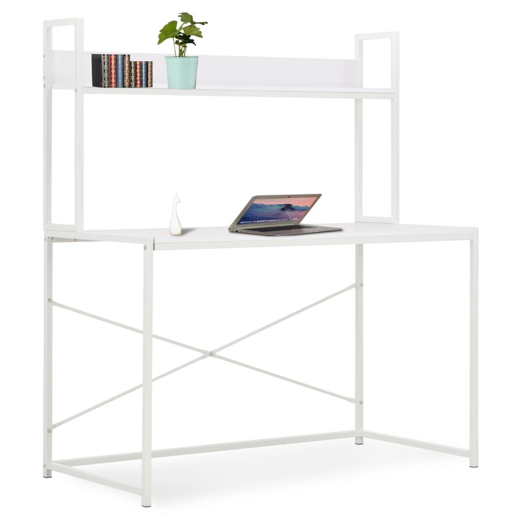 vidaXL Počítačový stôl biely 120x60x138 cm