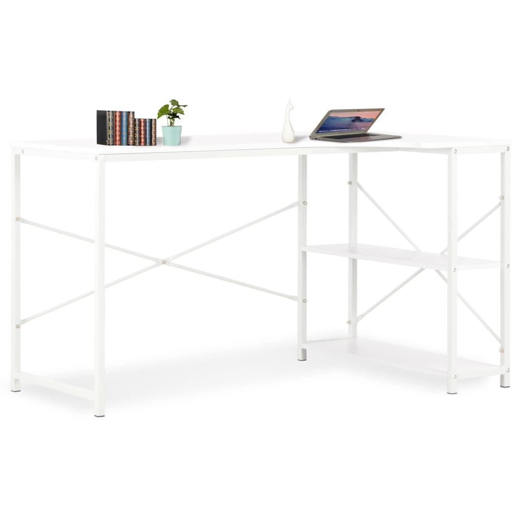 vidaXL Počítačový stôl biely 120x72x70 cm