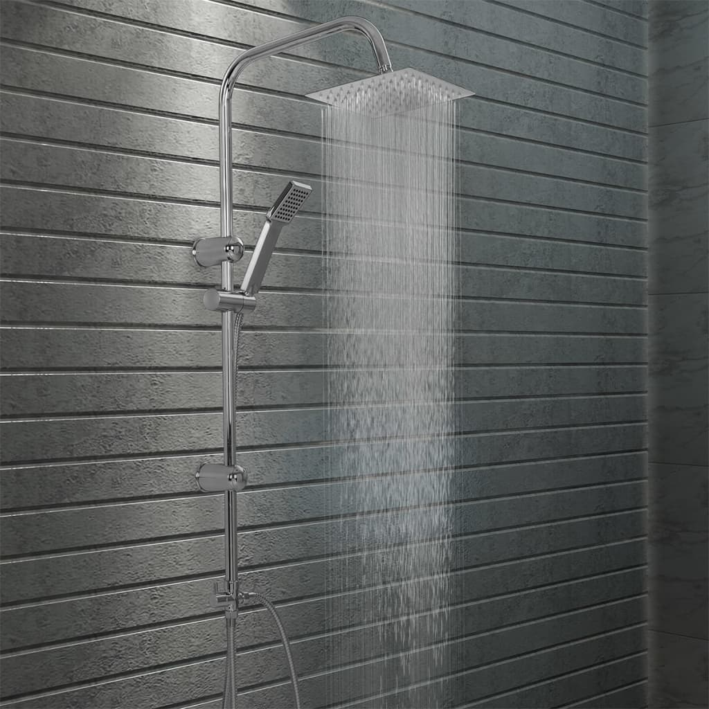 vidaXL Sada dvojitých sprchových hlavíc s ručnou sprchou nehrdzavejúca oceľ