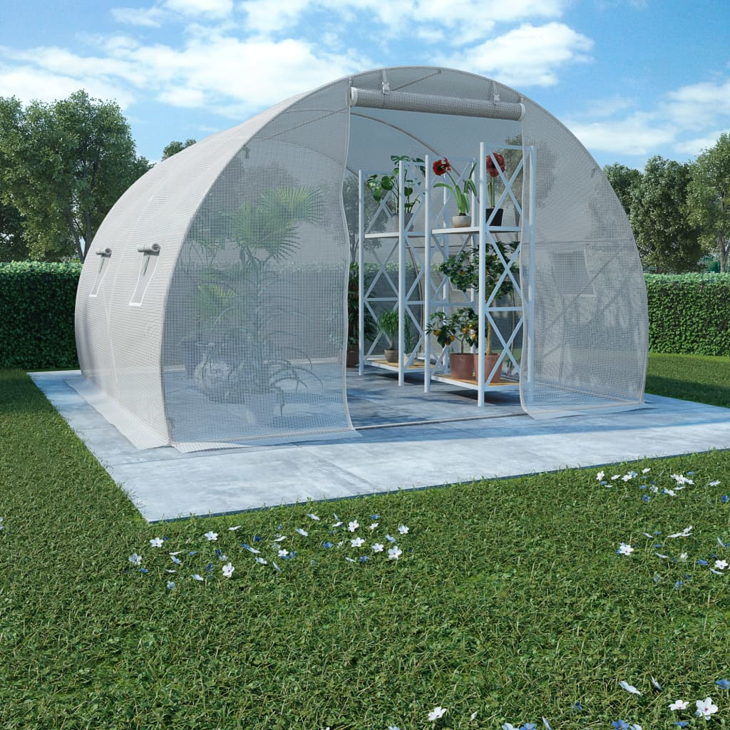 vidaXL Fóliovník s oceľovým základom 9 m² 300x300x200 cm
