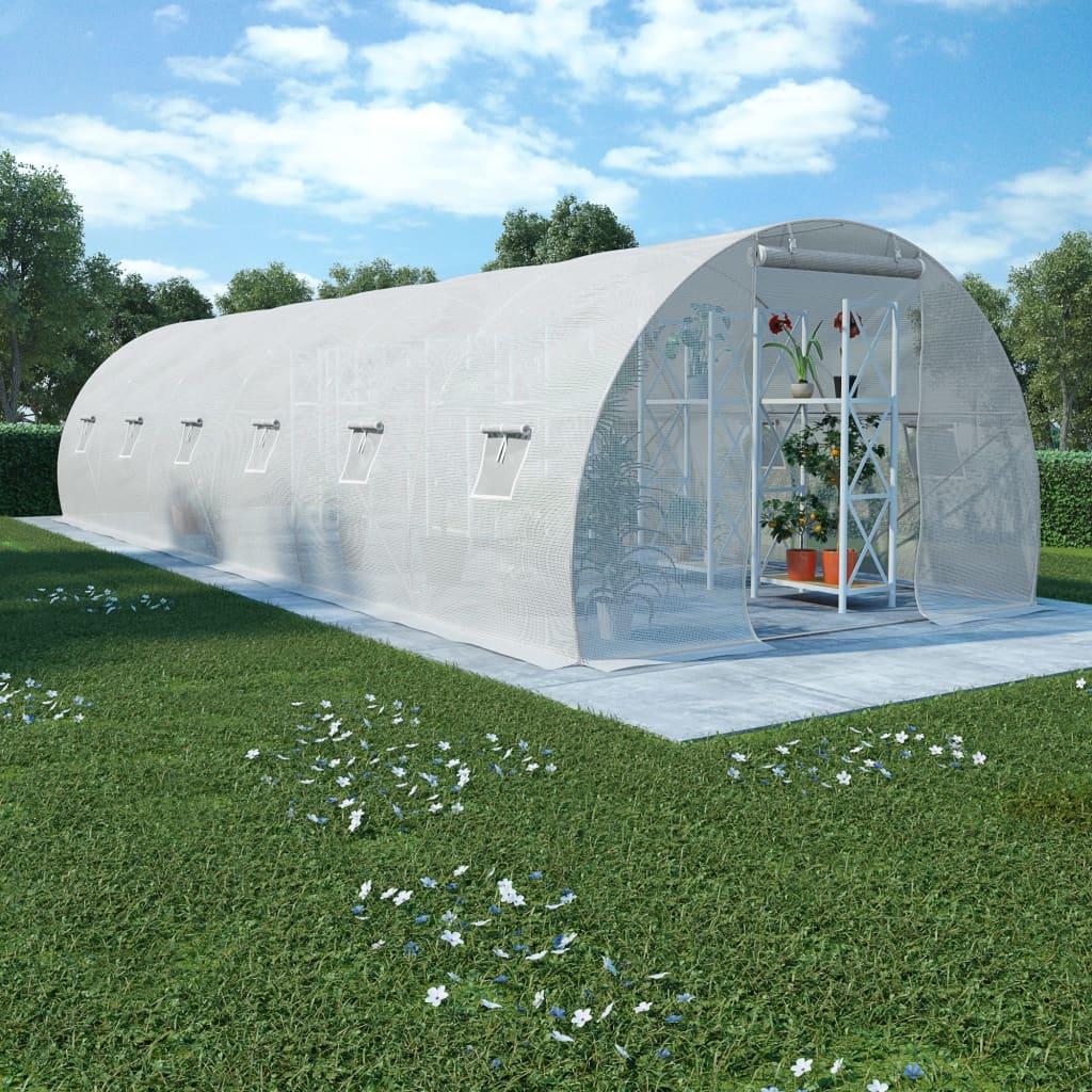 vidaXL Fóliovník s oceľovým základom 27 m² 900x300x200 cm