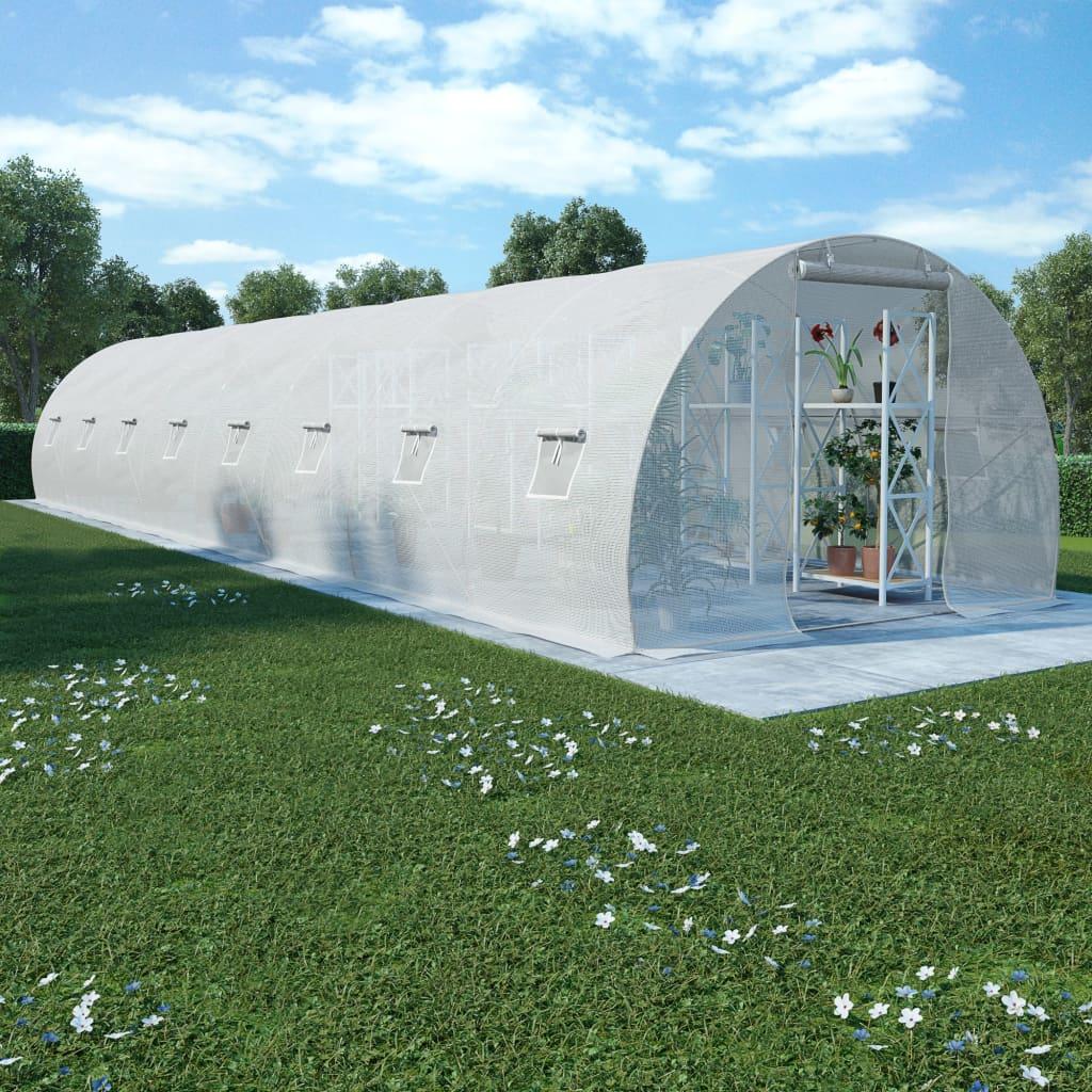vidaXL Fóliovník s oceľovým základom 36 m² 1200x300x200 cm