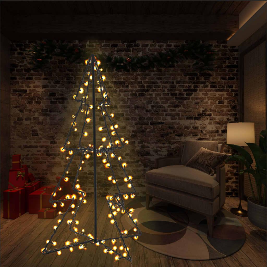vidaXL Vianočný stromček, kužeľ, 160 LED, dovnútra aj von 78x120 cm