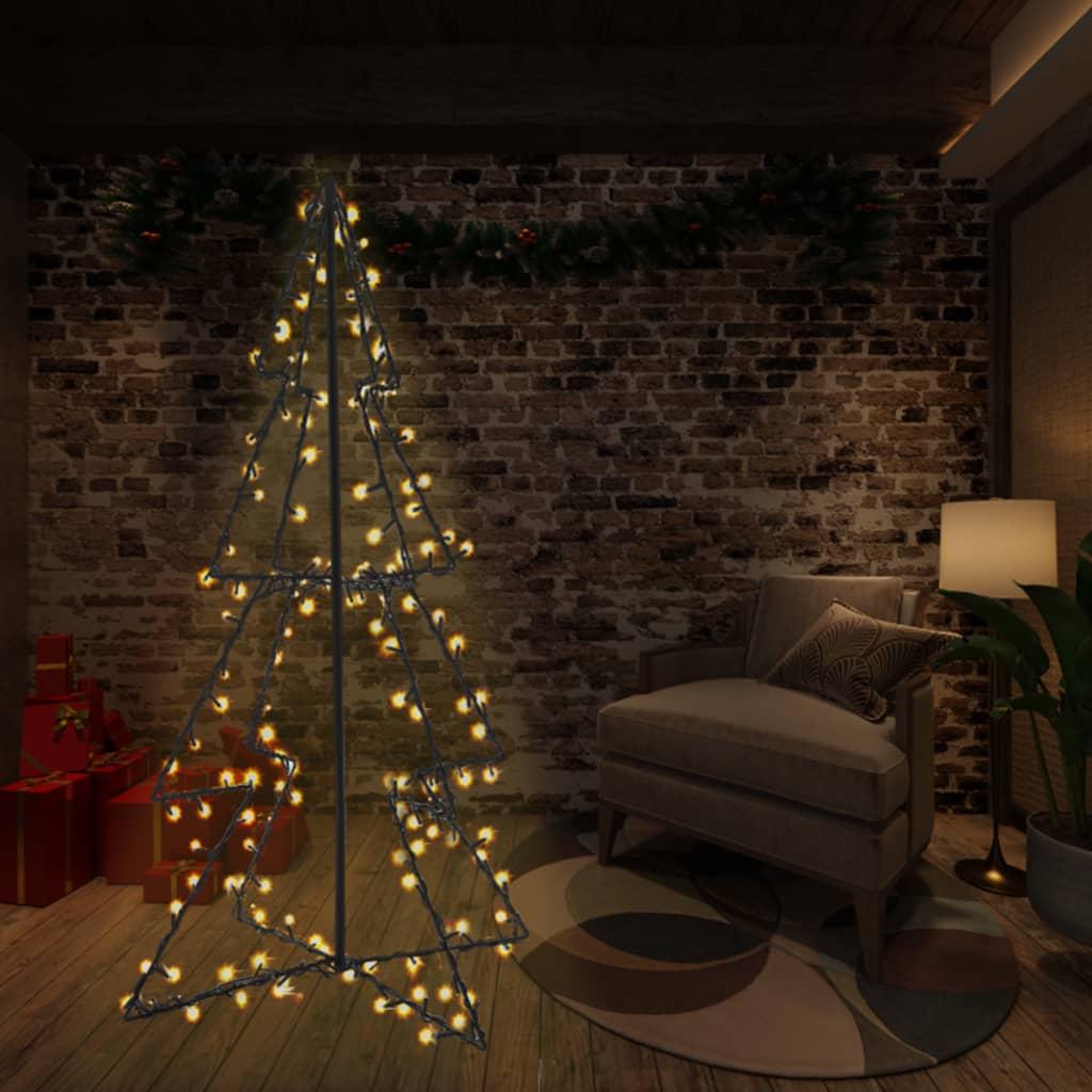 vidaXL Vianočný stromček, kužeľ, 240 LED, dovnútra aj von 115x150 cm