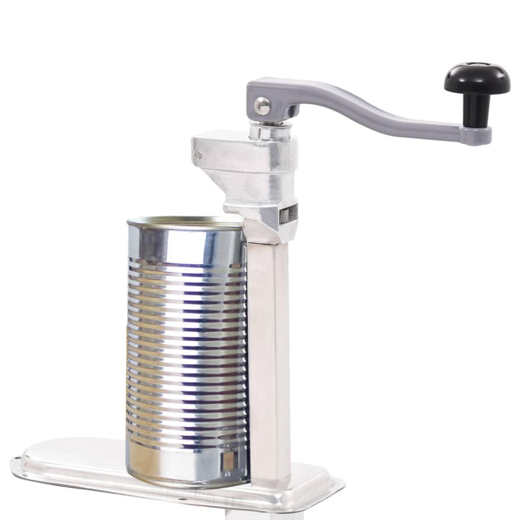 vidaXL Otvárač na konzervy strieborný 70 cm hliník a nehrdzavejúca oceľ