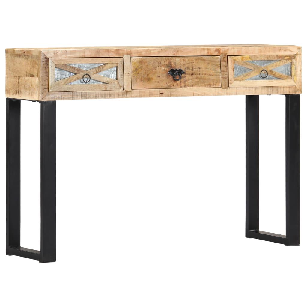 vidaXL Konzolový stolík 110x30x76 cm masívne mangovníkové drevo