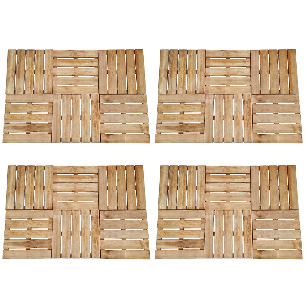 vidaXL Podlahové dlaždice 24 ks, 50x50 cm, drevo, hnedé