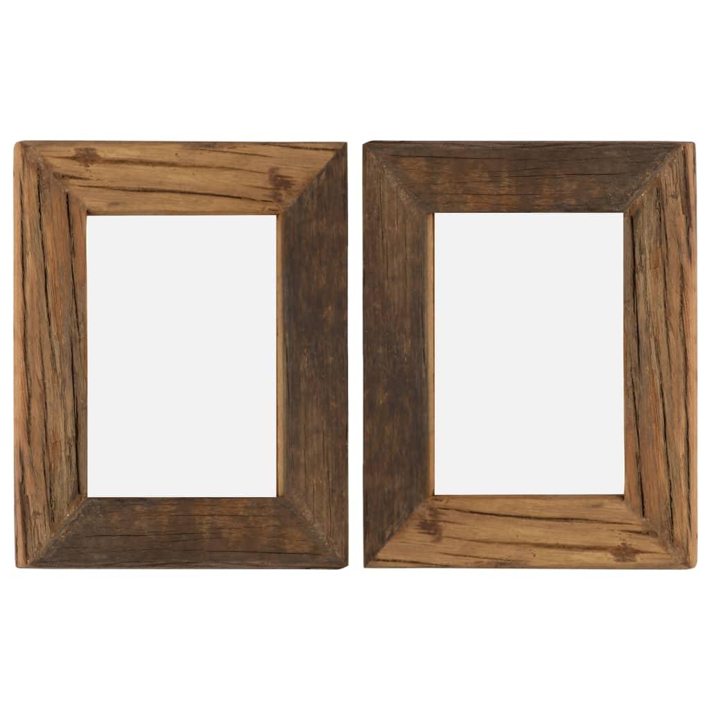 vidaXL Fotorámčeky 2 ks 25x30 cm masívne recyklované drevo a sklo