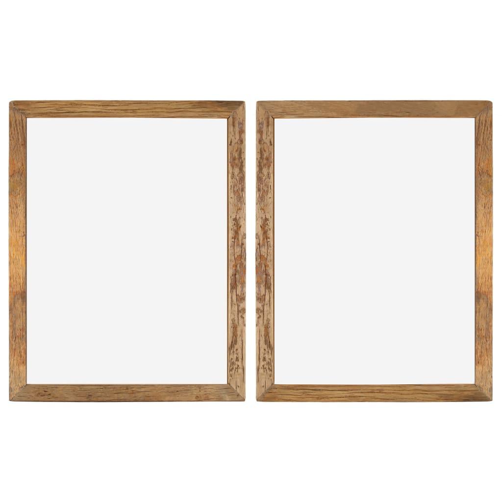 vidaXL Fotorámčeky 2 ks 90x70 cm masívne recyklované drevo a sklo
