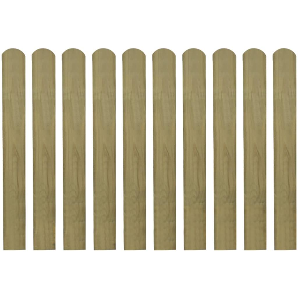 vidaXL Impregnované plotové dosky 20 ks, 80 cm, FSC drevo