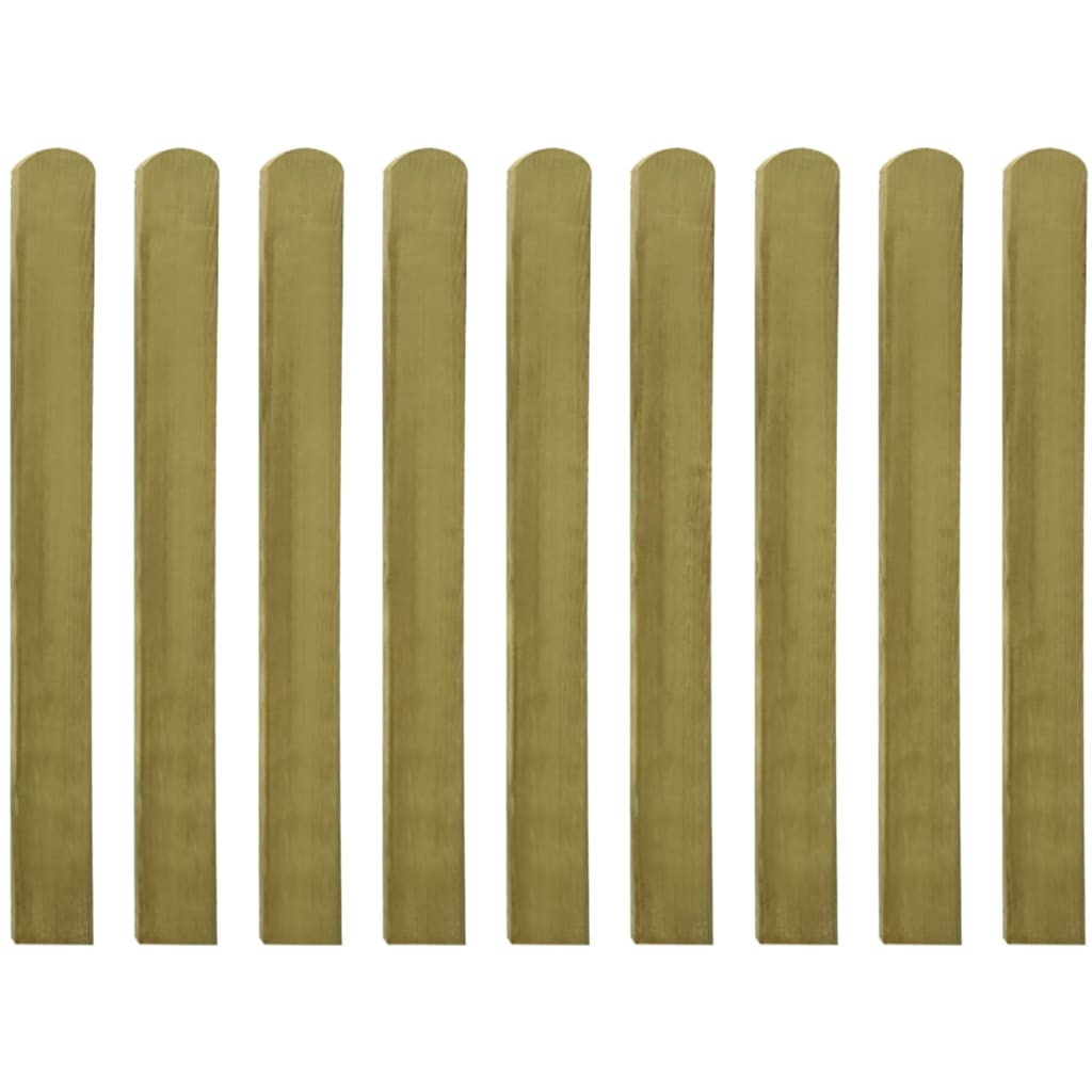 vidaXL Impregnované plotové dosky 20 ks, 100 cm, FSC drevo