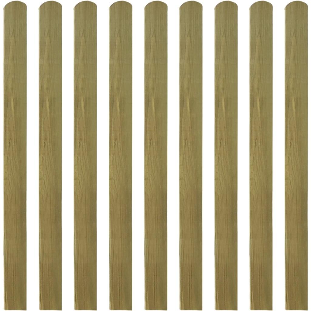 vidaXL Impregnované plotové dosky 30 ks, 120 cm, FSC drevo