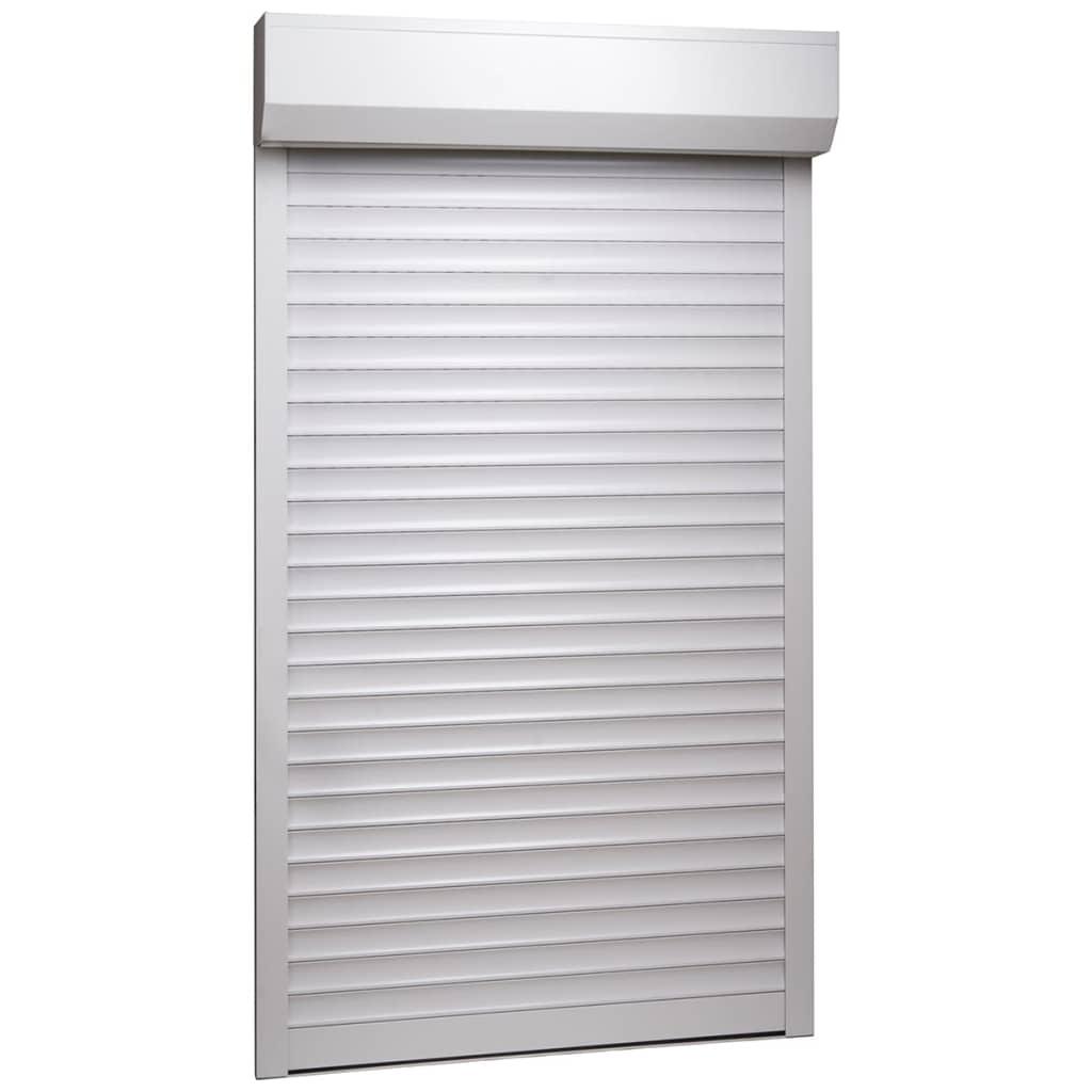 vidaXL Žalúzie biele 110x220 cm hliníkové