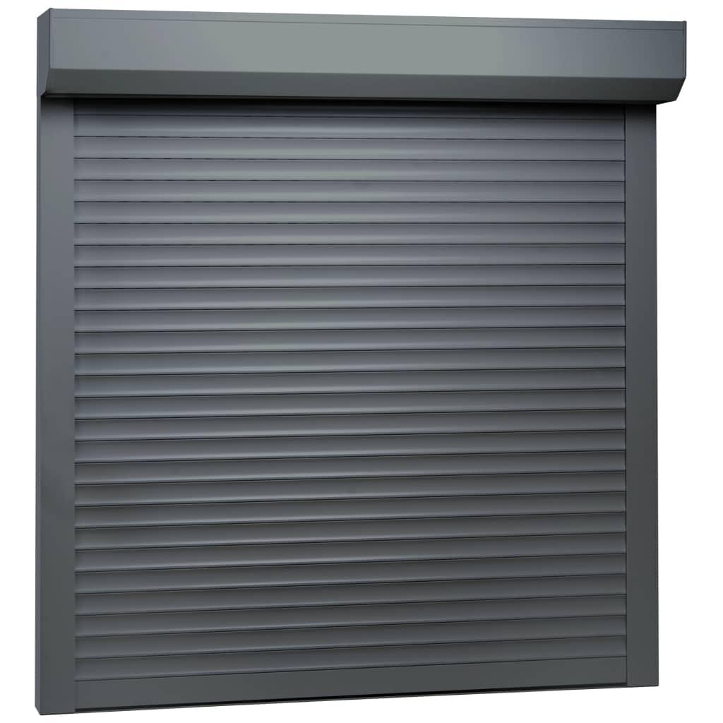 vidaXL Žalúzie antracitové 100x100 cm hliníkové