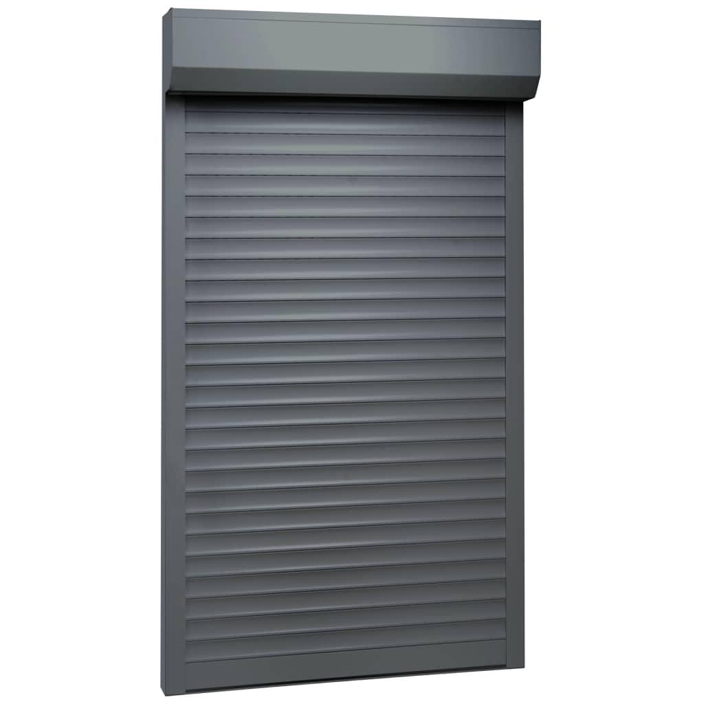 vidaXL Žalúzie antracitové 100x210 cm hliníkové