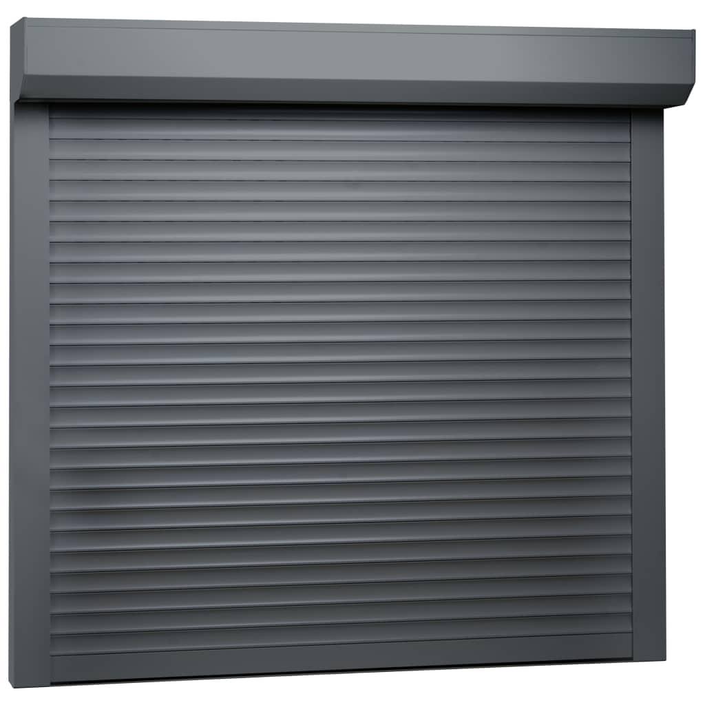 vidaXL Žalúzie antracitové 160x150 cm hliníkové