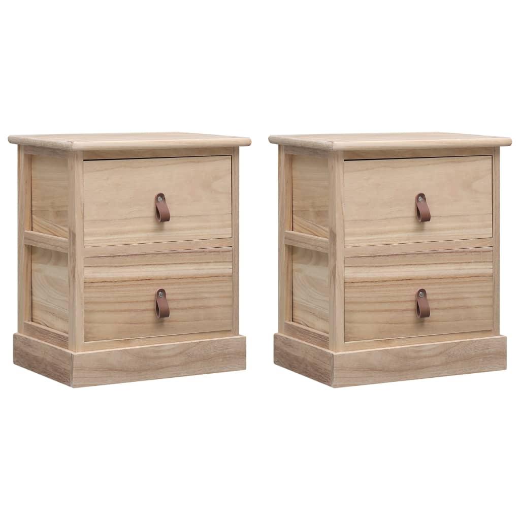vidaXL Nočné stolíky 2 ks 38x28x45 cm, drevo paulovnie