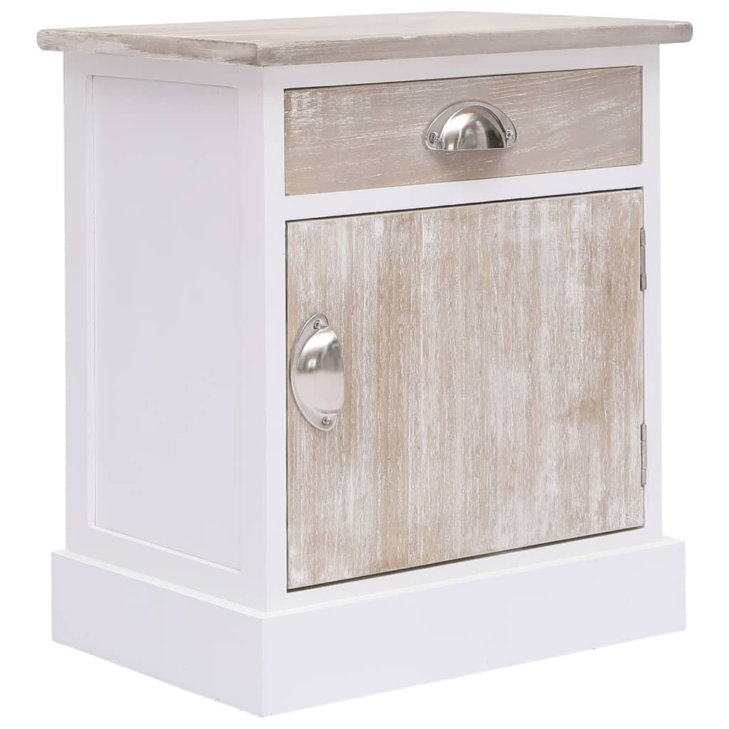 vidaXL Nočný stolík 38x28x45 cm, drevo paulovnie
