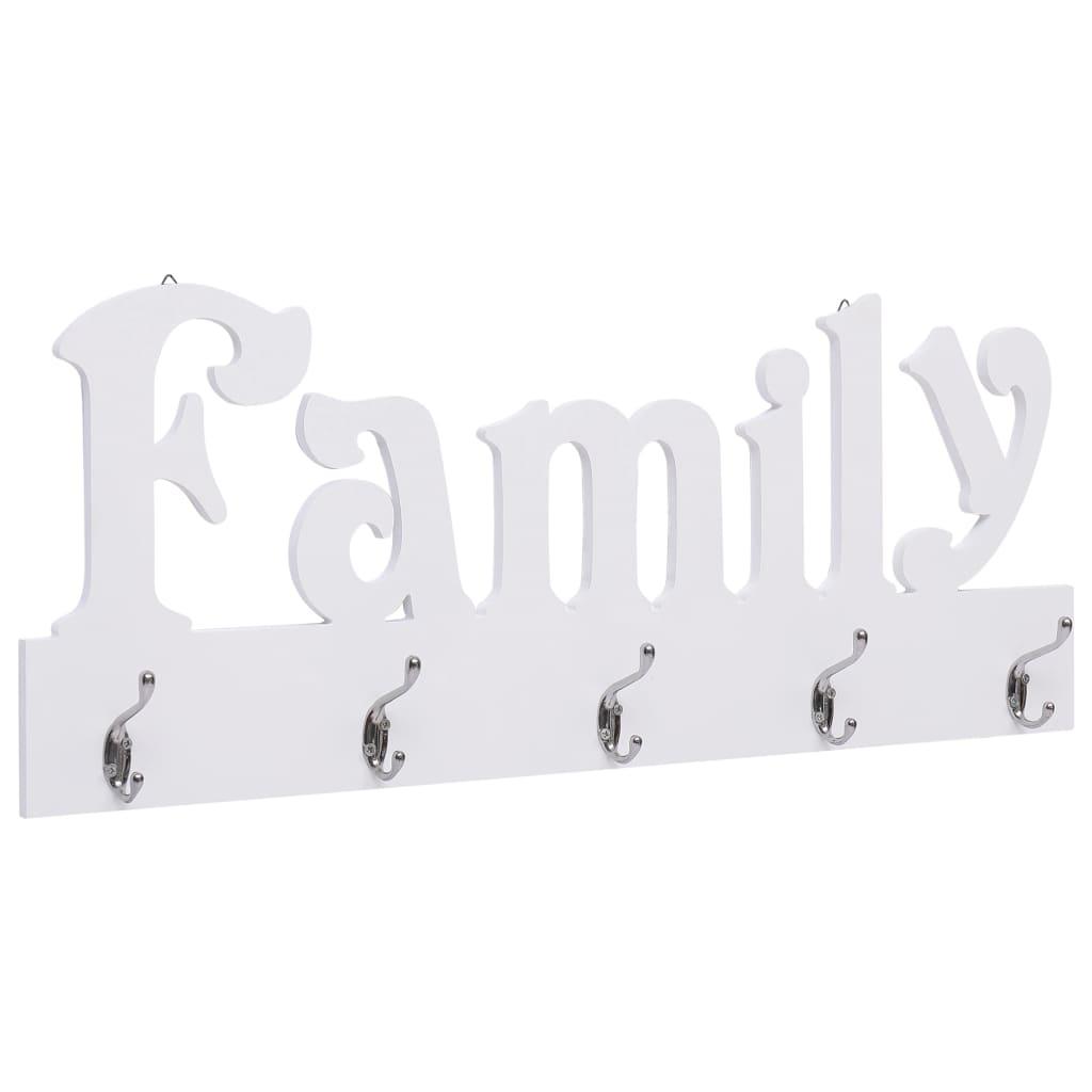vidaXL Nástenný vešiak FAMILY 74x29,5 cm