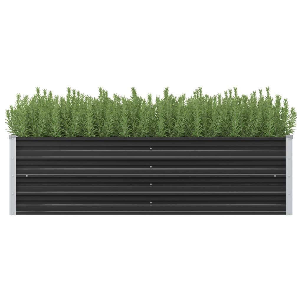 vidaXL Záhradný kvetináč antracitový 160x40x45 cm pozinkovaná oceľ