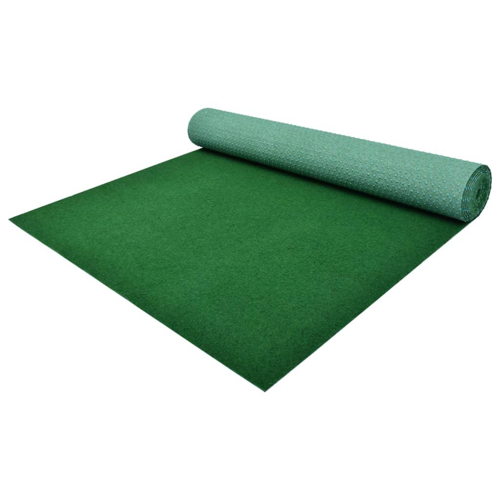 vidaXL Umelý trávnik s nopmi PP 5x1,33 m zelený