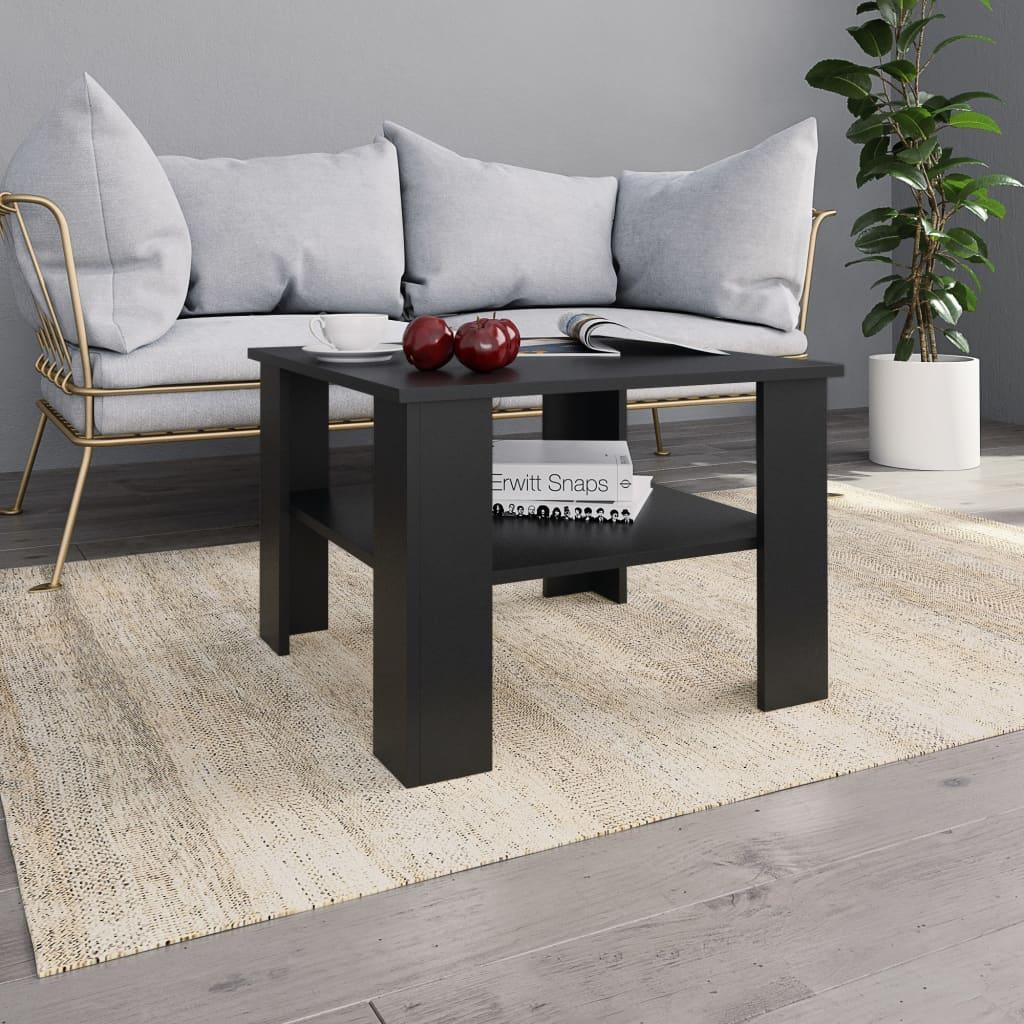 vidaXL Konferenčný stolík čierny 60x60x42 cm drevotrieska