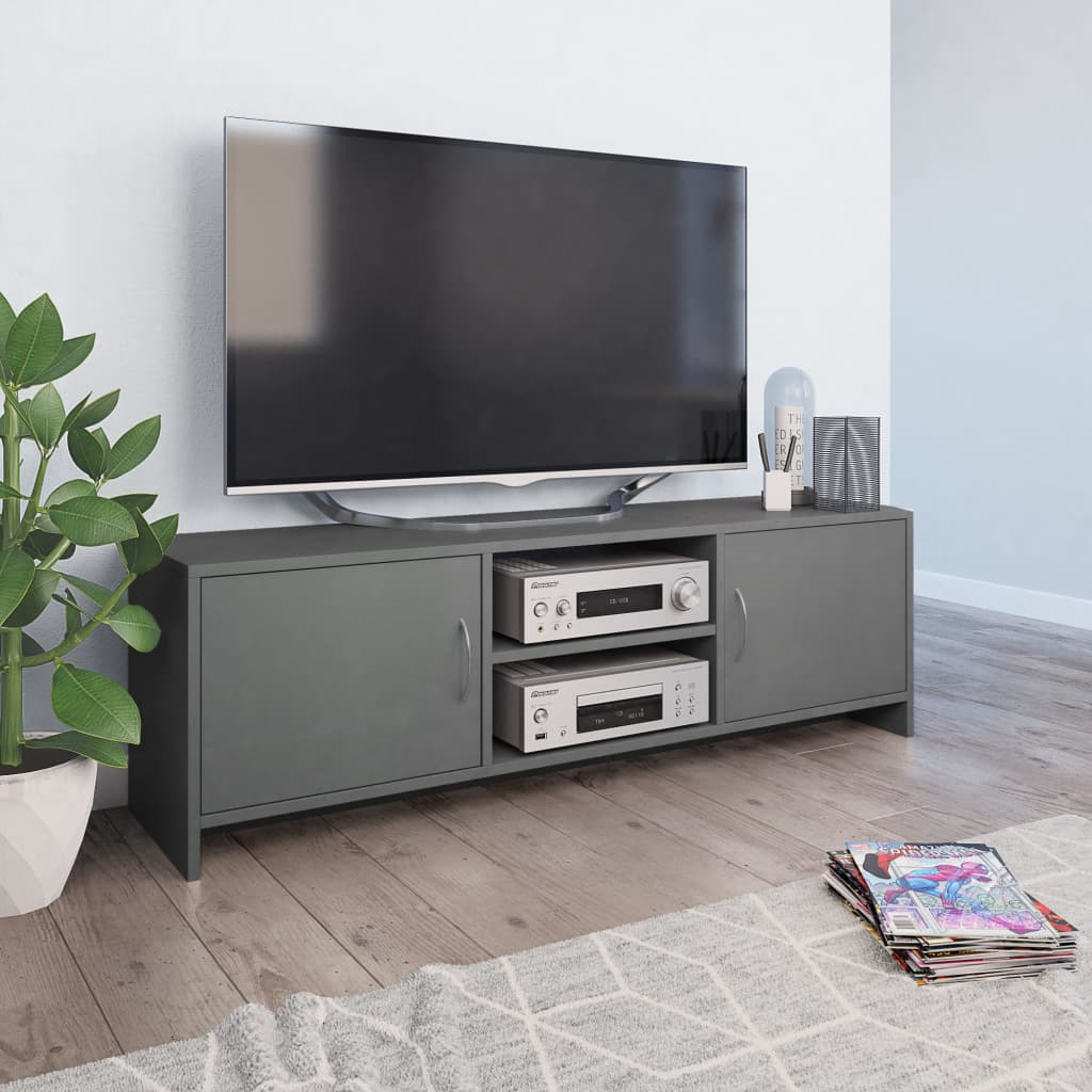vidaXL TV skrinka sivá 120x30x37,5 cm drevotrieska