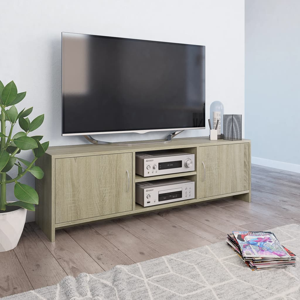 vidaXL TV skrinka farba dubu sonoma 120x30x37,5 cm drevotrieska