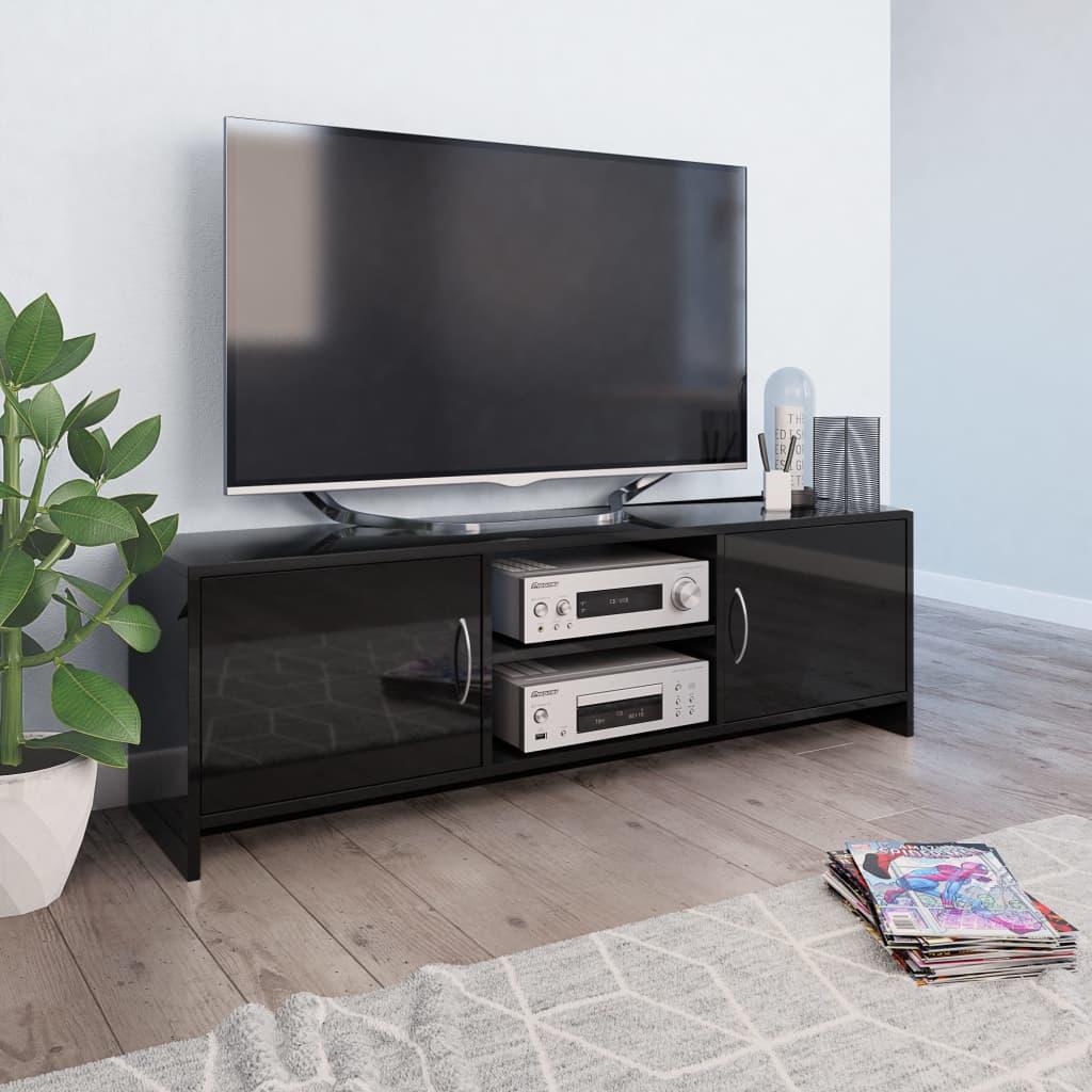 vidaXL TV skrinka lesklá čierna 120x30x37,5 cm drevotrieska