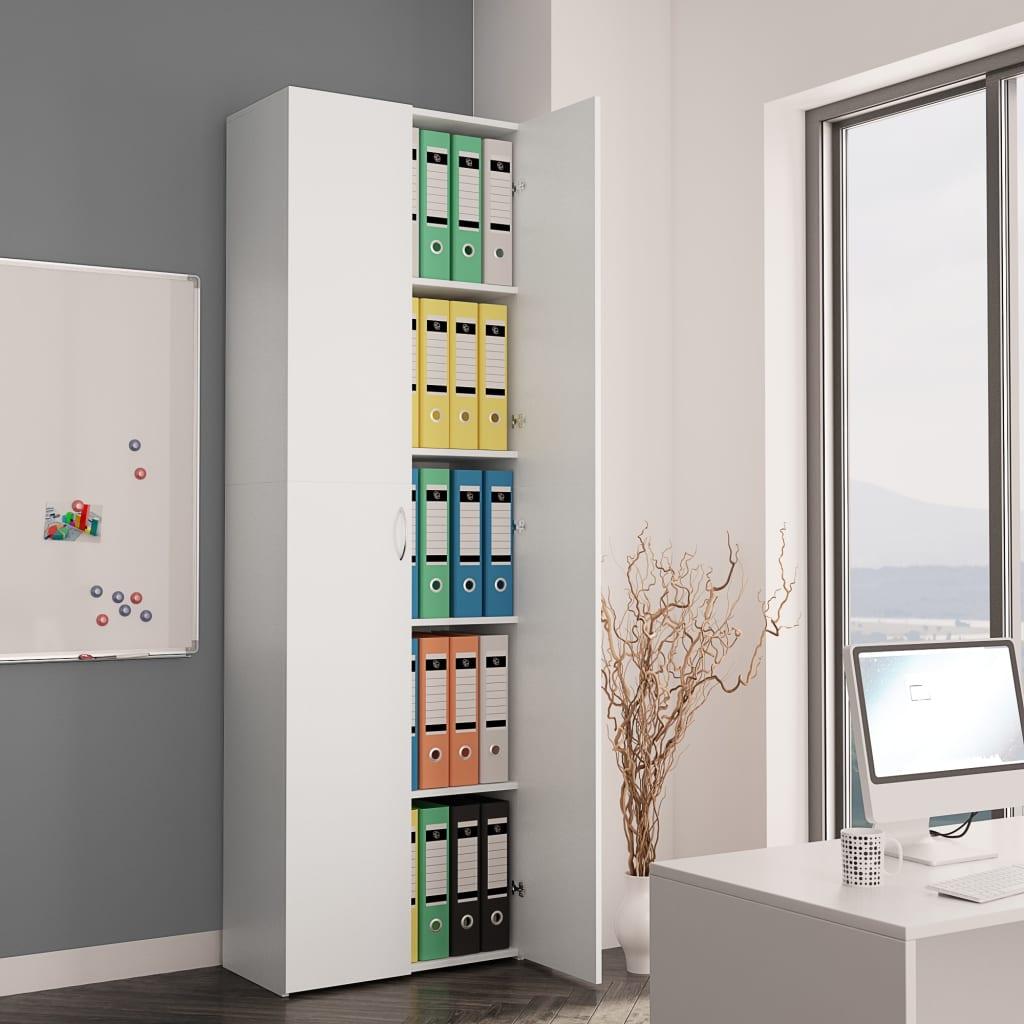 vidaXL Kancelárska skrinka biela 60x32x190 cm drevotrieska