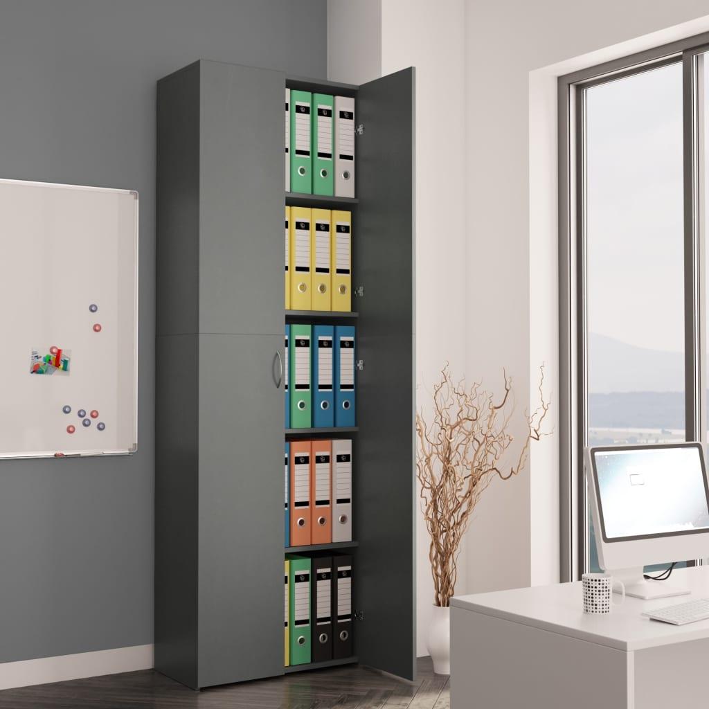 vidaXL Kancelárska skrinka sivá 60x32x190 cm drevotrieska
