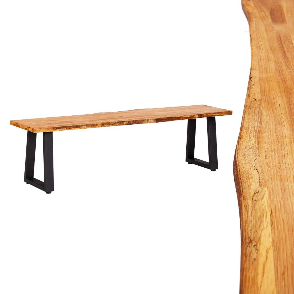 vidaXL Lavička 160 cm prírodné masívne dubové drevo