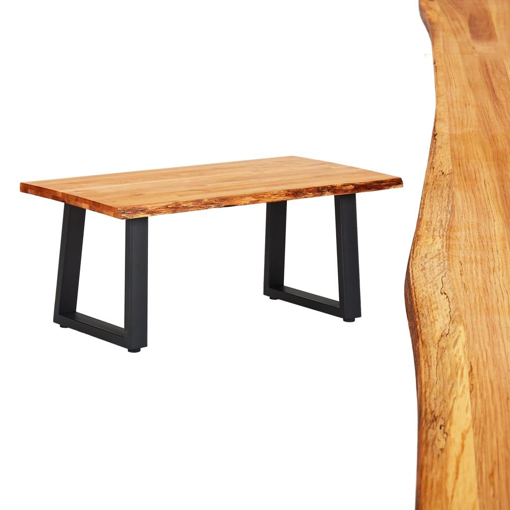 vidaXL Konferenčný stolík 100x60x45 cm dubový masív