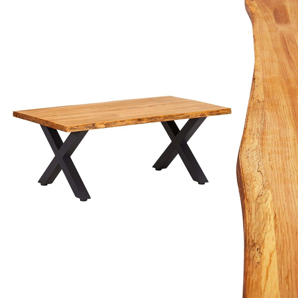 vidaXL Konferenčný stolík 100x60x45 cm, dubový masív